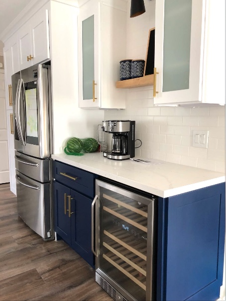 Blue Cabinets Kitchen Remodeling - EOL Builders 1